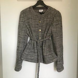 Armani Collezioni Belted Tweed Jacket / Cardigan